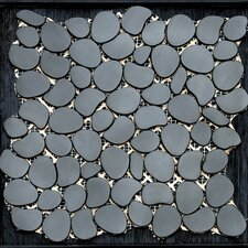 "Freeform 11"" x 11"" Metal Interlocking Mesh Tile in Umbra (Brushed Black)"