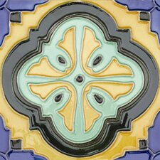 "Mission 6"" x 6"" Hand-Painted Ceramic Decorative Tile in Acapulco"