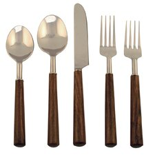 5 Piece Rosewood Flatware Set
