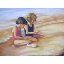 Blackwater Designs by Gayle George Girls on the Beach Painting Print on Canvas