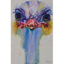 Cousins Series Opal the Ostrich 8 x 10 Wrap Canvas