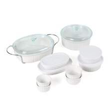 French White 17 Piece Bake and Serve Set