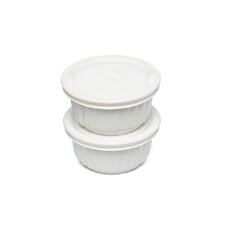 <strong>Corningware</strong> French White Ramekins with Lids (2 Pack)