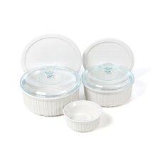 French White 7 Piece Bakeware Set