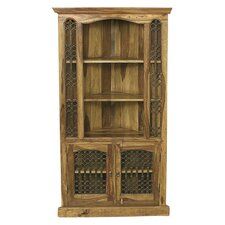 Jali Corner Display Cabinet