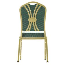 <strong>National Public Seating</strong> Series 9300 Fabric Silhouette Banquet Stacker with Round Designer Back