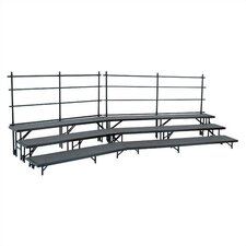 <strong>National Public Seating</strong> Tapered Standing Choral Riser Set in Hardboard