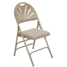 <strong>National Public Seating</strong> 1000 Series Triple Brace, Fan Back Padded Folding Chair