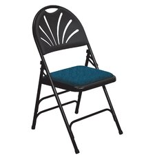 1000 Series Triple Brace, Fan Back Padded Folding Chair (Set of 4)