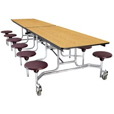 <strong>National Public Seating</strong> Mobile Cafeteria Stool-Table