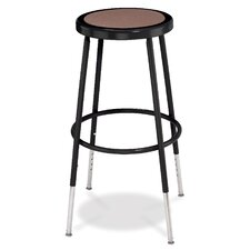 <strong>National Public Seating</strong> Adjustable Height Stool with Round Hardboard