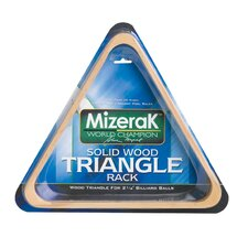 <strong>Mizerak</strong> Wood Triangle Billiard Ball Rack Set