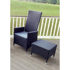 Goshen Reclining Chair with Cuhsion and Ottoman