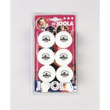<strong>Joola USA</strong> Rossi 3 Star Ball - 6 Count in White