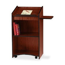 "<strong>Oklahoma Sound Corporation</strong> Floor Lectern/AV Stand, 25""x20""x46"", Medium Oak/Mahogany"