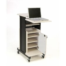 Premium Plus Presentation Cart Full Podium