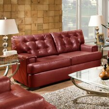 Soho Faux Leather Loveseat