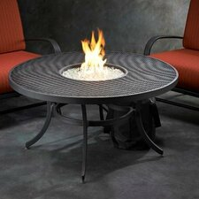 Nightfire Crystal Fire Pit Table with Mesh Top