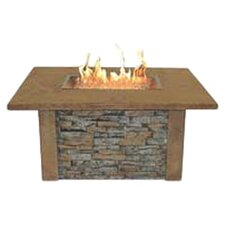 Sierra Firepit Table with Rectangle Burner