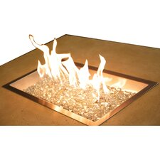Steel / Glass Gas Fire Pit Table