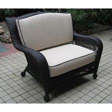 <strong>The Outdoor GreatRoom Company</strong> Ebony & Ivory Wicker Deep Seating Chair and a Half