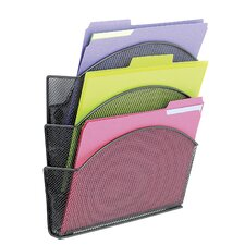 <strong>Safco Products Company</strong> Onyx Magnetic Mesh Panel Accessories, 3 File Pocket