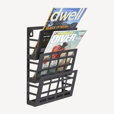 Grid 3 Pocket Magazine Rack
