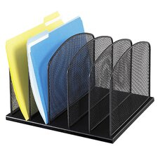 <strong>Safco Products Company</strong> 5 Section Mesh Upright Desk Organizer