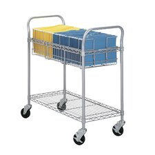 "38.5"" Wire Mail Cart"