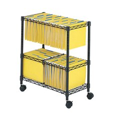 "29.75"" Two-Tier Rolling File Cart"