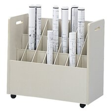 Mobile Roll File Filing Cart
