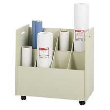 Mobile Roll File Filing Cart (Set of 2)