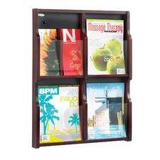 Expose 4 Pocket Magazine/8 Pocket Pamphlet Display Wall Rack