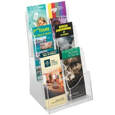 3 Pocket Acrylic Magazine Display