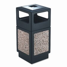 <strong>Safco Products Company</strong> Canmeleon Series Outdoor Aggregate Panel Side Opening Receptacle with Urn (Large)