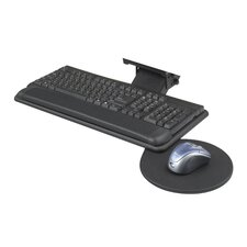 Adjustable Keyboard Platform with Mouse Tray