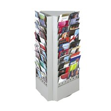 <strong>Safco Products Company</strong> 66 or 33 Pocket Rotary Brochure Rack