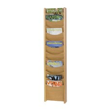 12 Pocket Wood Magazine Rack