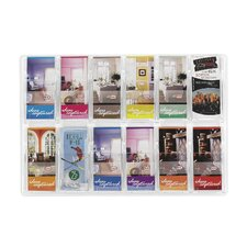 Reveal Clear Literature Displays, 12 Compartments