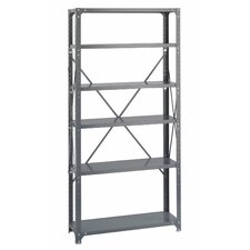 "Commercial Steel 76"" H 6 Shelf Shelving Unit"