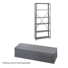 "12"" Industrial Steel Shelving in Dark Gray"