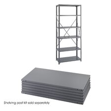 "18"" Industrial Steel Shelving in Dark Gray"
