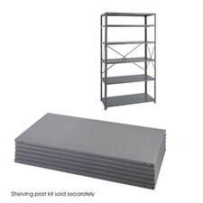 "<strong>Safco Products Company</strong> 24"" Industrial Steel Shelving in Dark Gray"