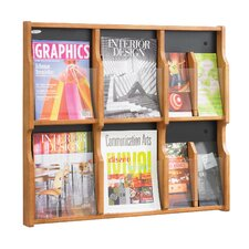 Expose 6 Pocket Magazine/12 Pocket Pamphlet Display Wall Rack