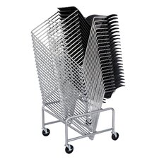 <strong>Safco Products Company</strong> Sled Base Stack Chair Cart