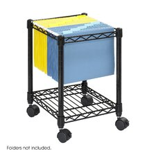 <strong>Safco Products Company</strong> Compact Mobile Wire File Cart