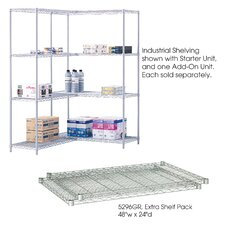 "<strong>Safco Products Company</strong> Industrial Wire Extra Shelves (48"" x 24"" Shelves)"