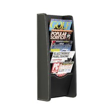 Leather Look Magazine Rack, 5 Compartments