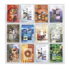 "Reveal Clear Literature Displays, 12 Compartments, 30"" High"