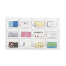 <strong>Safco Products Company</strong> Safco Business Card Holder with 12 Pockets